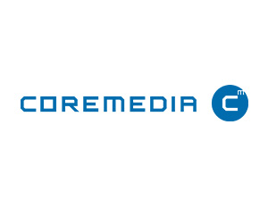 graphic: company logo CoreMedia - partner of T-Systems Multimedia Solutions