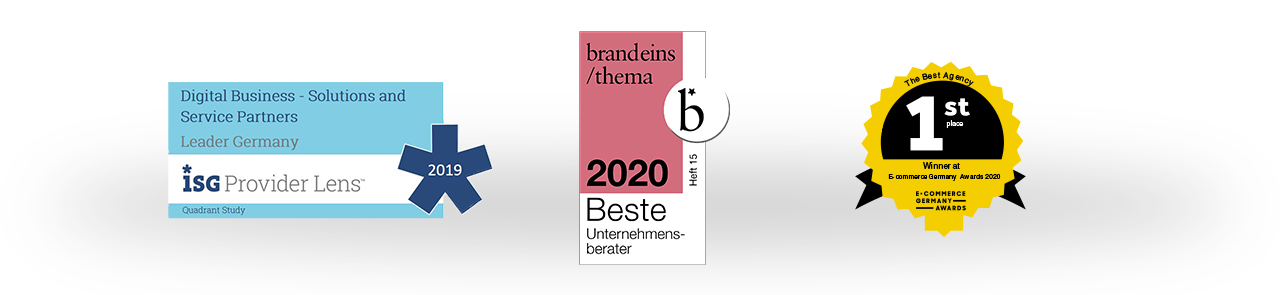 Auszeichnung ISG 2019 | Beste Berater 2020 | Best Agency E-Commerce Germany