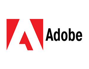 graphic: company logo Adobe - partner of T-Systems Multimedia Solutions